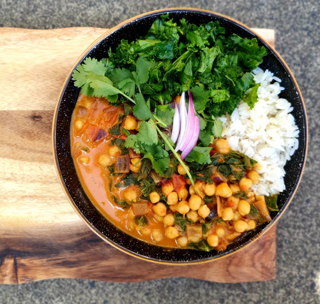 chickpea and kale curry